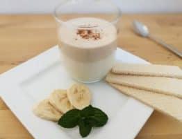 Kaffee-Topfencreme mit Banane