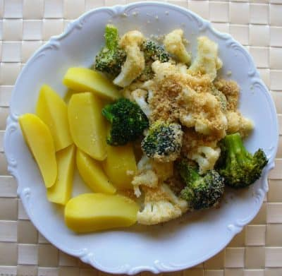Kohlrabi und Broccoliroeschen